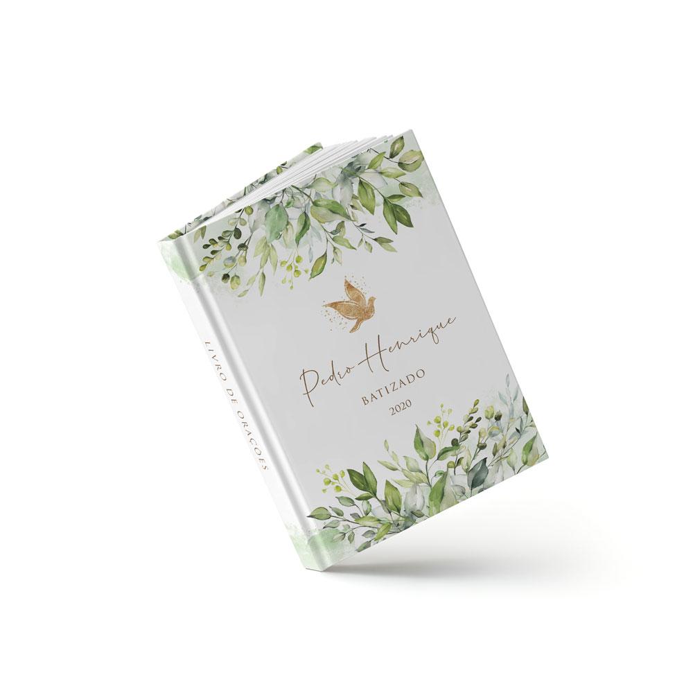 Livro Batizado - Folhagem Verde - Sweetcards