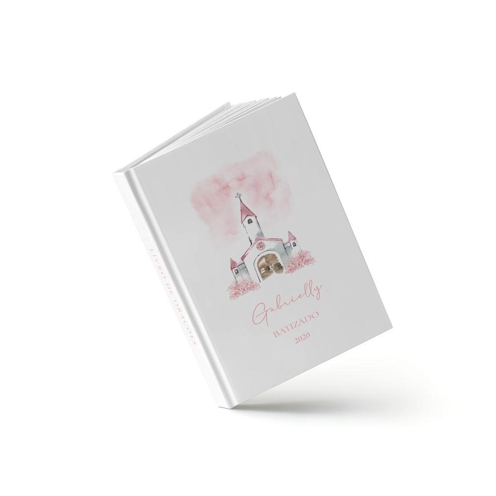 Livro Batizado - Igreja Rosa - Sweetcards