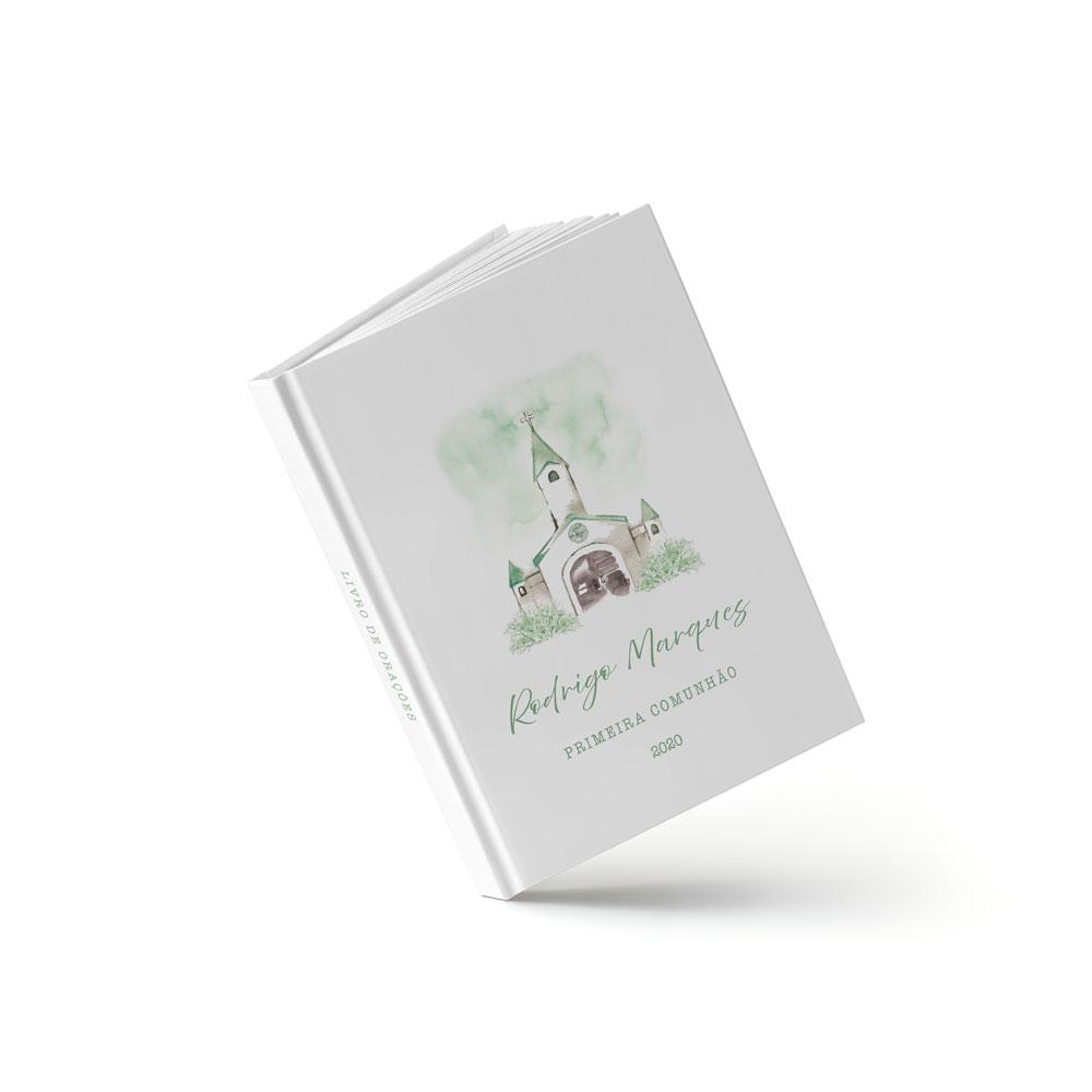 Livro Primeira Eucaristia - Igreja Verde - Sweetcards