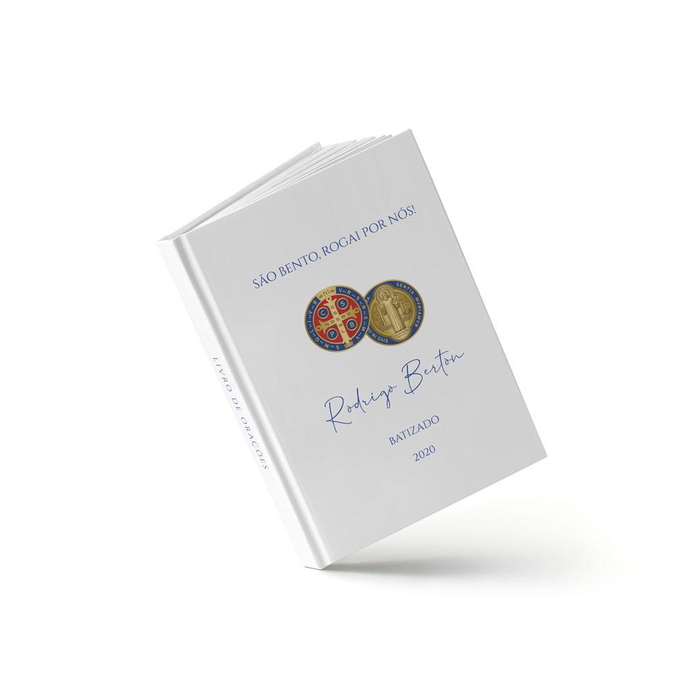 Livro de Batizado - Medalha de São Bento - Sweetcards