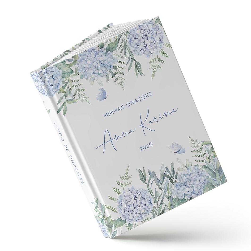 Livro de Orações - Hortência Azul - Sweetcards