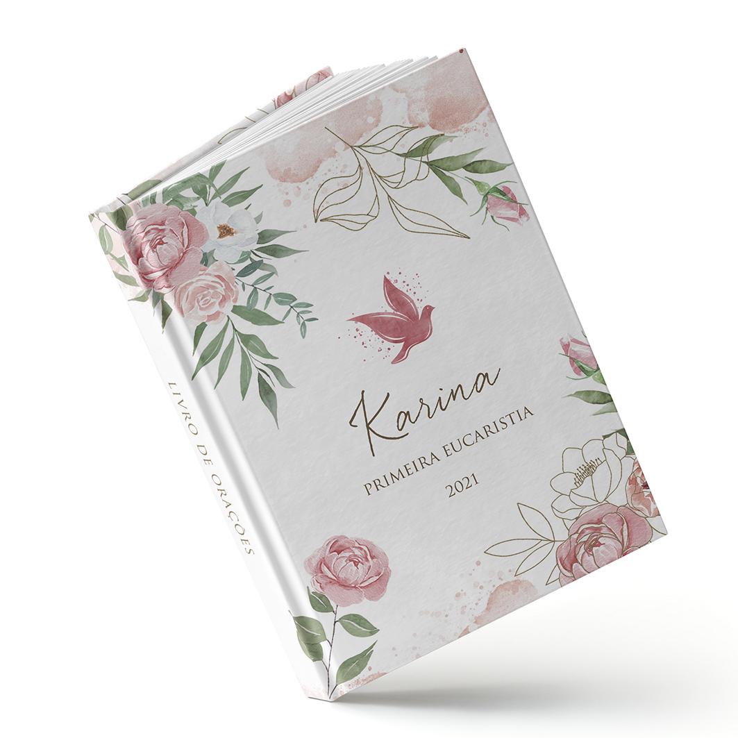 Livro Batizado - Rosas - Sweetcards